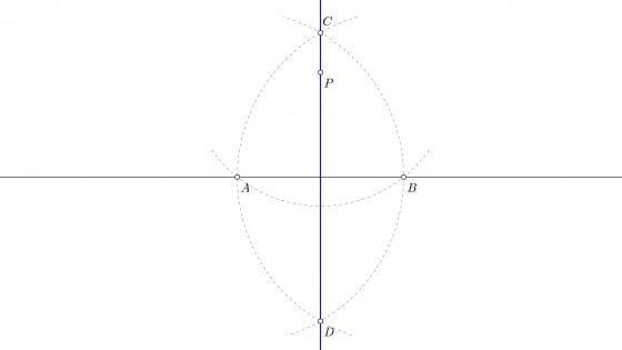 Perpendicular a una recta por un punto externo a la misma