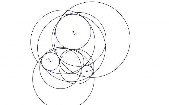 Circunferencias tangentes a tres circunferencias