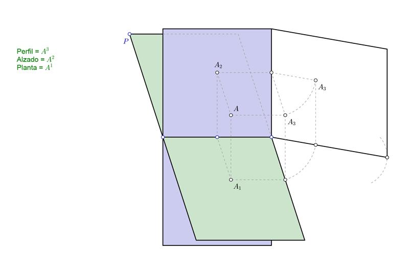 Planos ortogonales en sistema diédrico