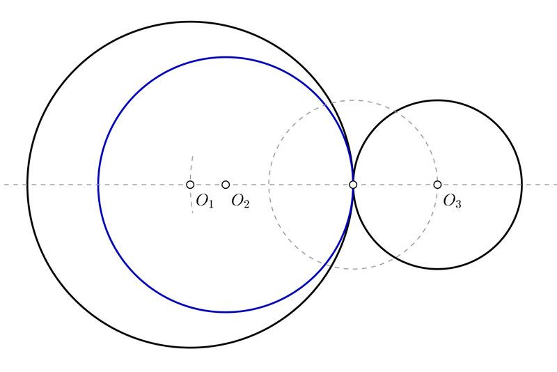 Problemas de circunferencias tangentes para primero de bachillerato