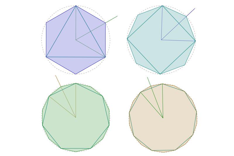 división de polígonos regulares