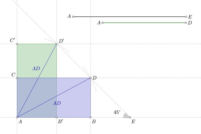 Dibujar un rectángulo conociendo la suma de los lados y la diagonal