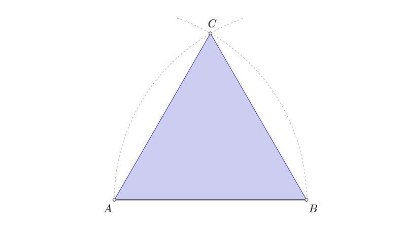 Resolución de triángulos equiláteros conocido el lado