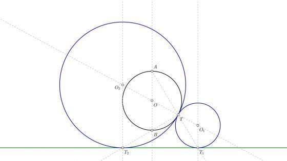 Problemas de circunferencias tangentes resueltos paso a paso