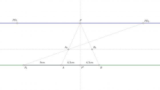 Calcular profundidades en perspectiva cónica frontal