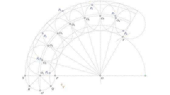 Como dibujar epicicloides alargadas en dibujo técnico paso a paso