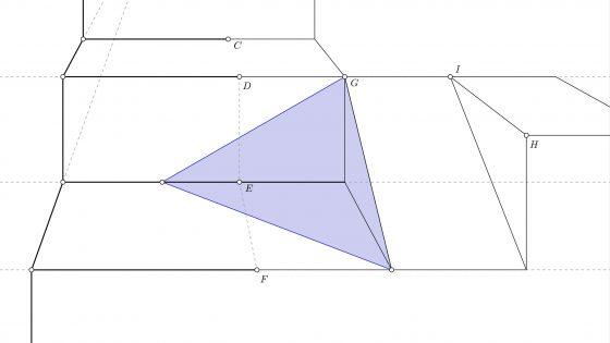 Sombra de un triángulo