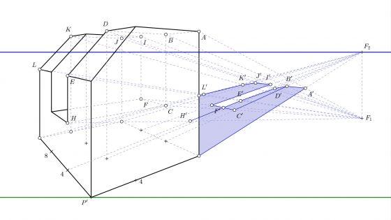 Tutorial para dibujar sombras en perspectiva cónica oblicua paso a paso (punto impropio)