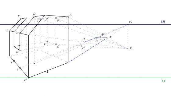 Guía fácil para dibujar sombras en perspectiva cónica oblicua (punto impropio)