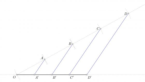 Teorema de Tales, proporcionalidad y semejanza