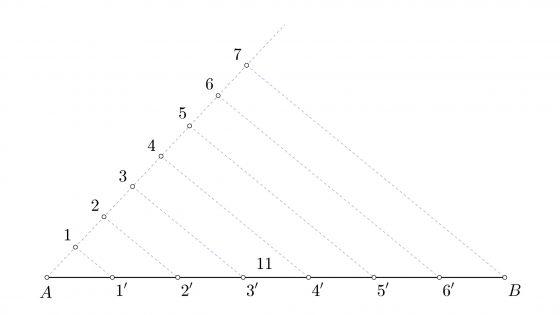 Primer teorema de Tales (Thales), Dibujo Técnico de primero de bachillerato