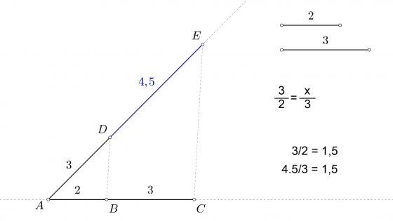 Tercera proporcional a dos segmentos dados