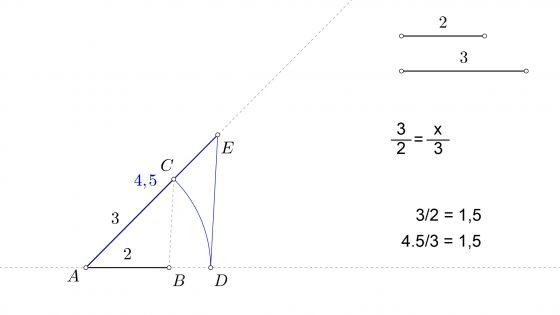 Como hallar gráficamente la tercera proporcional