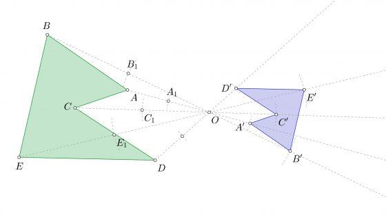 Tipos de transformaciones geométricas, tanto isomórficas como anamórficas