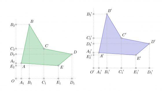 Construir figuras iguales mediante coordenadas