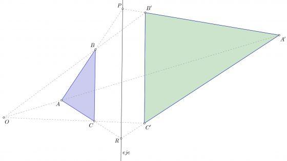 Problema resuelto de homología en geometría (triángulo, muy sencillo)