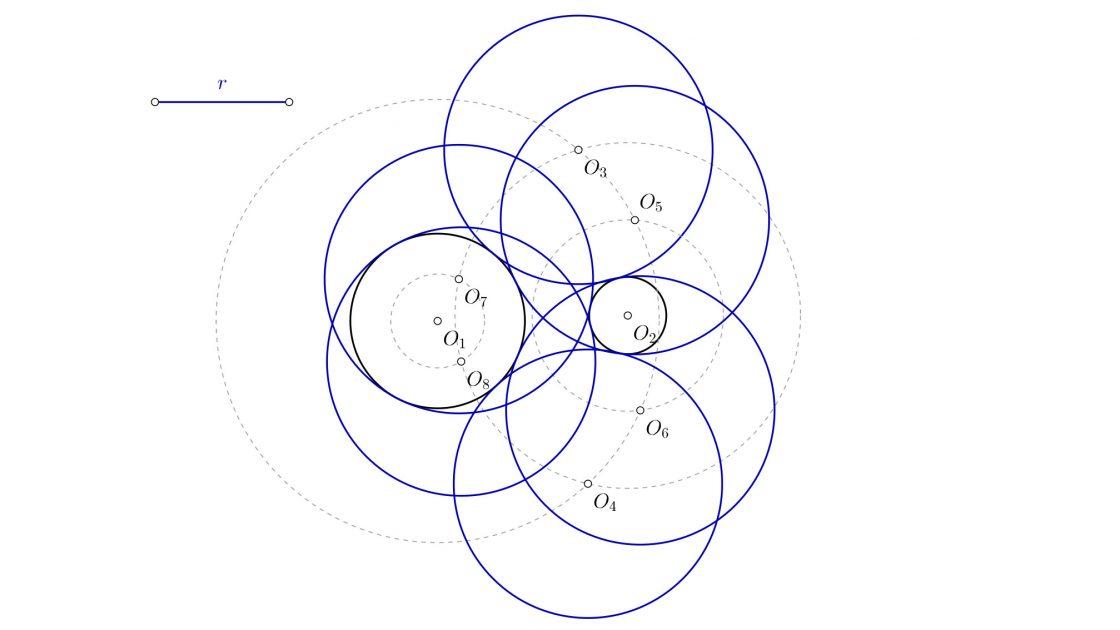 Ejercicios de circunferencias tangentes de primero de bachillerato