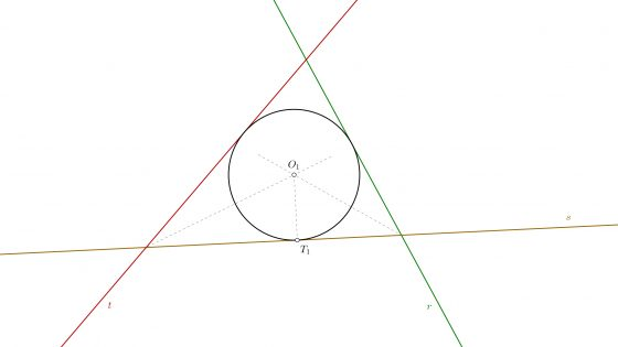 Circunferencia tangente a tres rectas