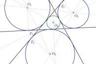 Problemas de circunferencias tangentes cuando desconocemos el radio de la solución